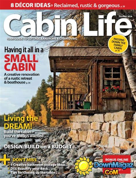 cabin magazine cabin october 2014 187 pdf magazines