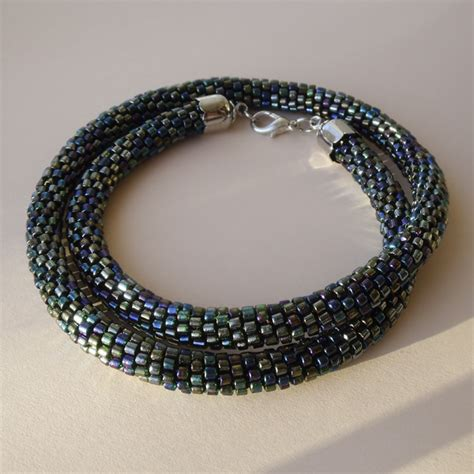 how to crochet bead necklace bead crochet necklace by borysbrytva on deviantart