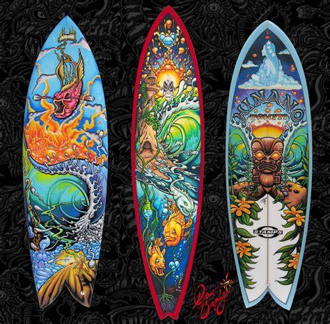 custom paintings custom painted surfboard by drew brophy
