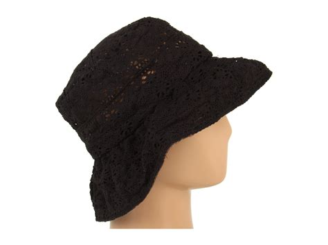 grace hats lace hat braid in black lyst