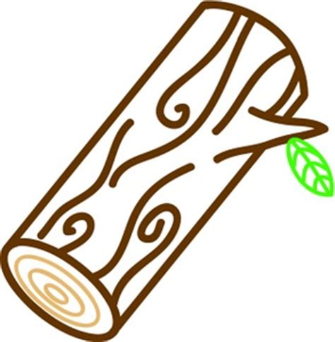 Log With A Leaf Weather Clipart