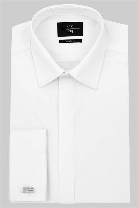 Collar Shirt moss esq regular collar cuff dress shirt