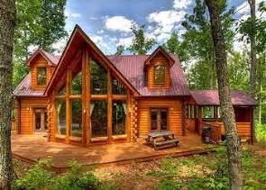 wood cabin large windows home home