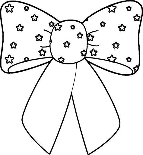 4th of july bow coloring page wecoloringpage