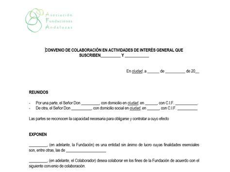 convenio de colaboracin convenio de colaboraci 243 n empresarial asociaci 243 n de