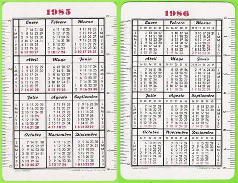 Calendario De 1985 Calendario Gregoriano Al Sur De Un Horizonte