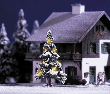 aromatic scale christmas trees busch tree w working lights ho scale model railroad tree 5410