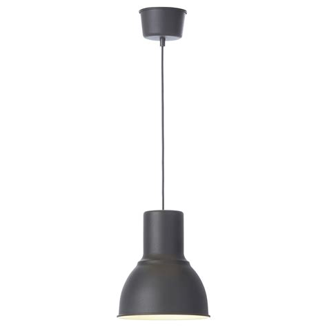 Ikea Lighting Pendants Hektar Pendant L Grey 22 Cm Ikea