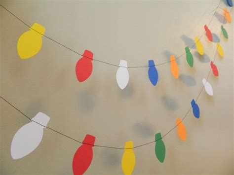 paper garland 6 ft christmas lights garland holiday