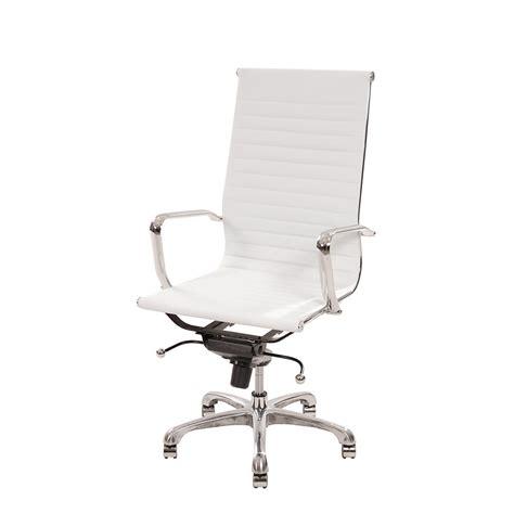 white high back desk chair watson white high back desk chair el dorado furniture