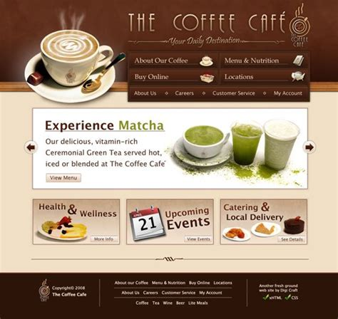 best coffee shop websites 17 best images about website on coloring