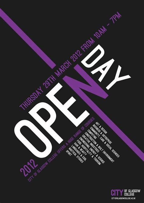 poster design glasgow 20 best open day poster brief images on pinterest