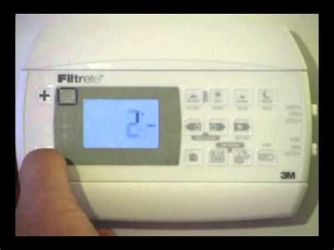 thermostat swing how to program the filtrete 3m22 thermostat how to save