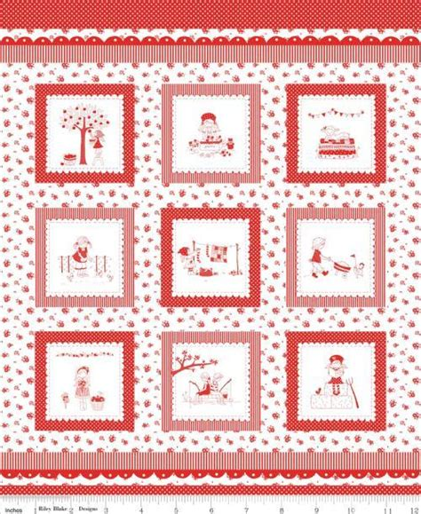 fabric pattern manufacturers riley blake the simple life p3021 red old country