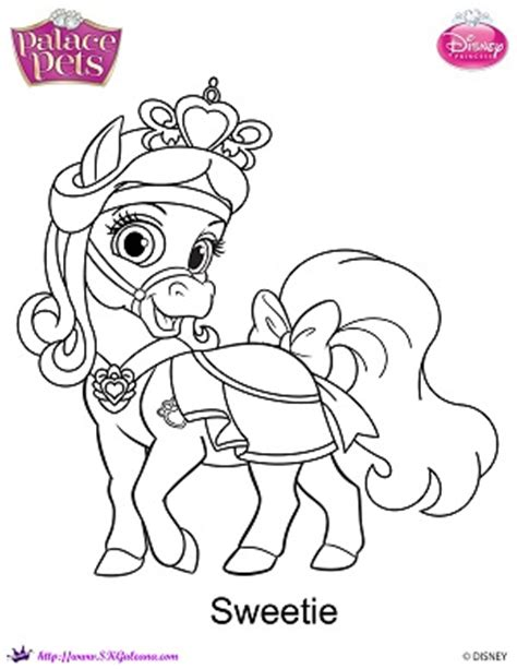 princess palace pets sweetie coloring page by skgaleana on