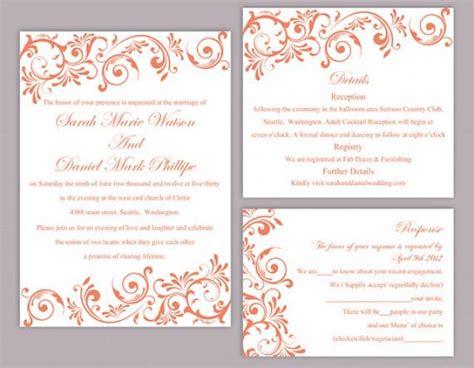 printable elegant invitation free printable elegant wedding invitation templates