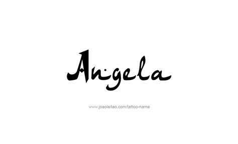 angela tattoo angela name designs