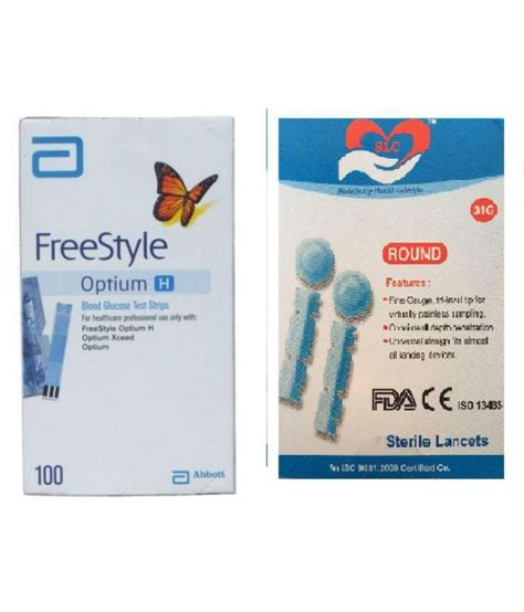 Freestyle Optium 100 Test Strips 1 optium h 100 strips 100 lancets exp 10 2017 available at snapdeal for rs 1298