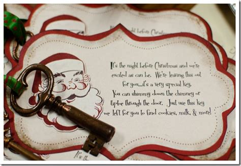 printable santa key template elementary shenanigans magic santa keys