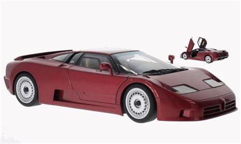 Diecast Miniatur 124 1991 Bugatti Eb 110 Bburago bugatti eb110 gt metallic dunkelred 1991 autoart diecast