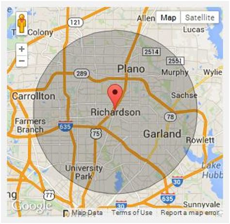 richardson texas map 12100500 jpg 640 215 480 dfw metro