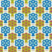 Mix Tulip Mustard Layer aliceapple s shop on spoonflower fabric wallpaper and