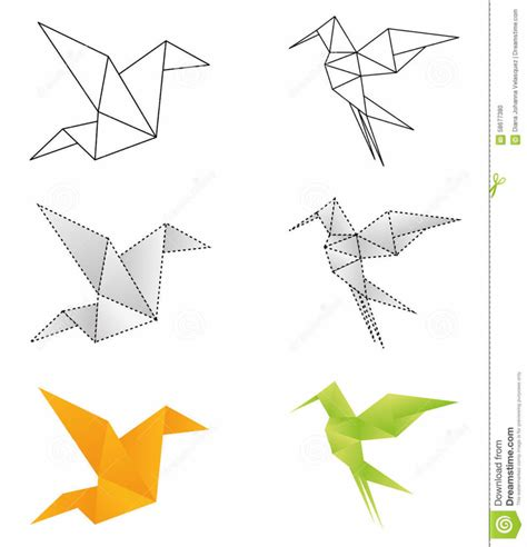 Origami Designer - free coloring pages origami design stock vector image