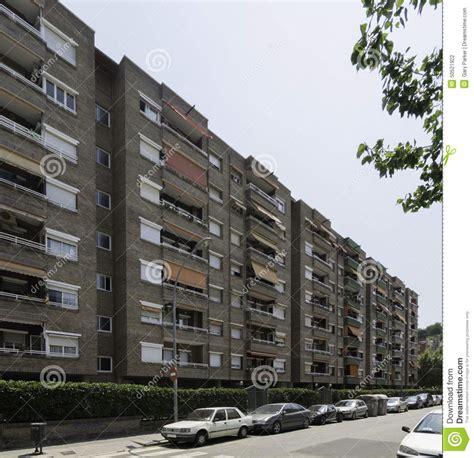 modern barcelona apartment building facade stock photo image 50521922
