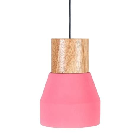 Lava L Pink by Laval Ceramic And Wood Pendant Light Pink Cult Furniture Uk