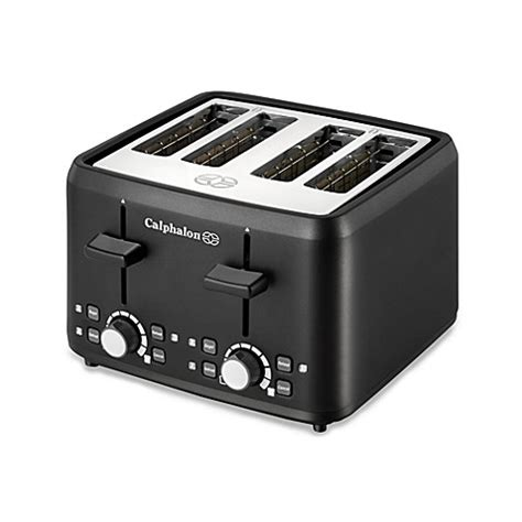 bed bath beyond toaster calphalon 174 black 4 slice toaster bed bath beyond