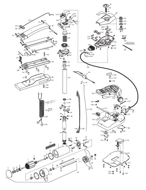 minn kota trolling motor parts diagram minn kota trolling motor diagram pictures to pin on