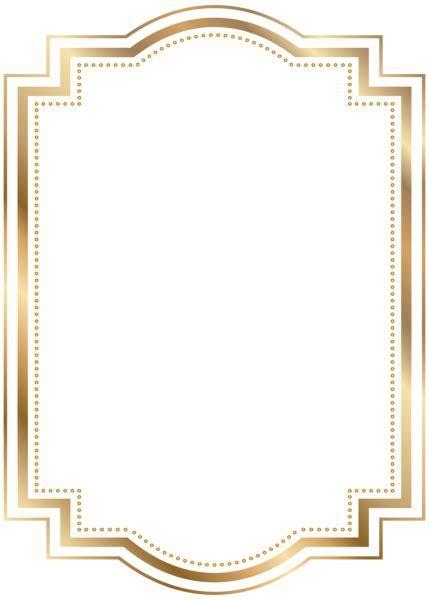 Border Frame Gold Transparent Clip Art   Gallery