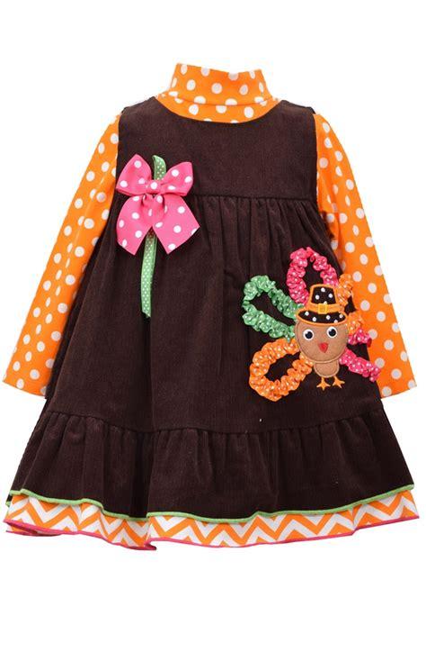 turkey dress 1 by mega bonnie jean baby turkey dress set