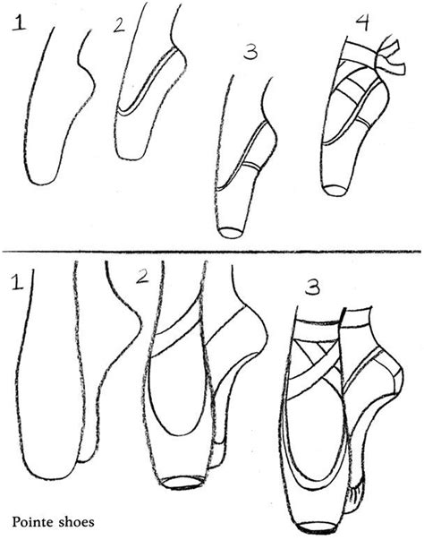 how to draw ballet slippers how to draw ballet shoes dans coloring