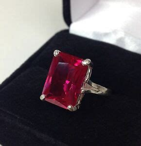 Ruby 6 8ct beautiful 8ct emerald cut ruby ring sterling silver size 6