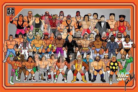 classic wrestling wallpaper wwe wwf wrestling cast wwf the days of my childhood