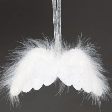 christmas white feather angels wings fluffy hanging