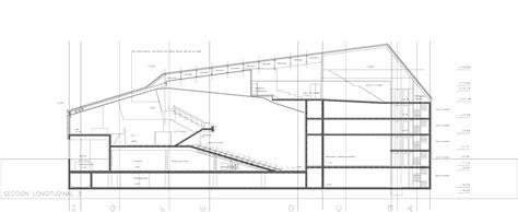 auditorium plan and section vila joiosa auditorium theatre arquitecturas torres