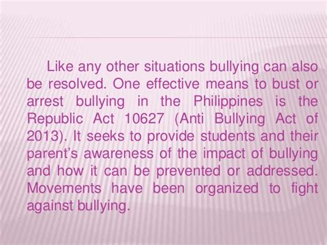thesis about bullying in the philippines bullying assesment