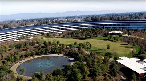 apple park apple park nears completion in latest drone footage