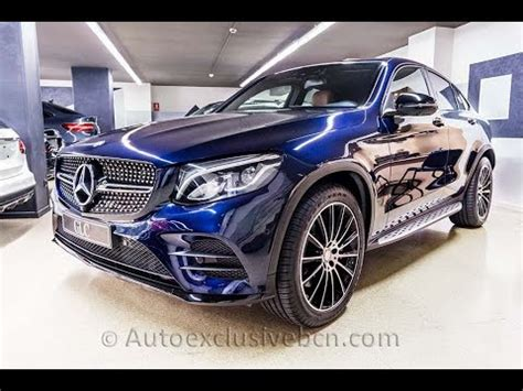 mercedes glc  amg coupe azul canvasita piel marron