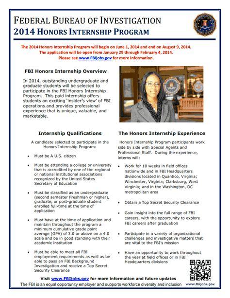 fbi intern internships undergraduate research