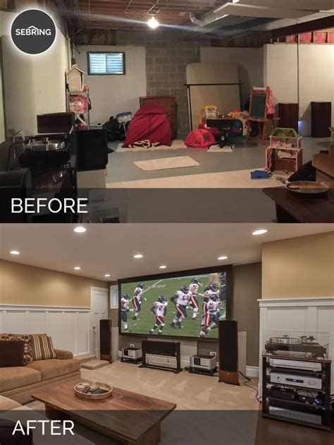 basement remodeling ideas before and a naperville basement before after pictures home