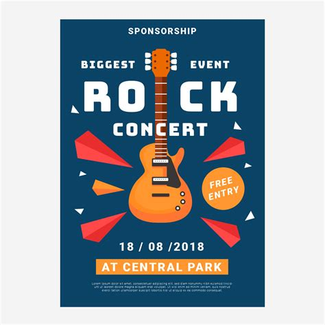 Concert Rock Poster Template Download Free Vector Art Stock Graphics Images Free Concert Poster Template