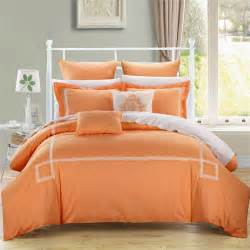 Orange Bedding Sets 4pc 6pc 10pc Comforter Bedding Sets Blue Grey Green Orange
