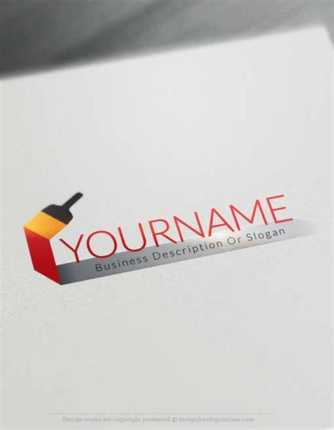 design a logo in paint free logo maker online paint brush logo design