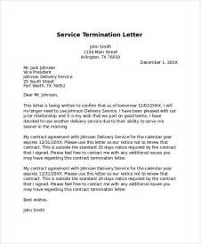 Termination Letter Of Services Sample Sample Termination Letter 7 Documents In Pdf Word