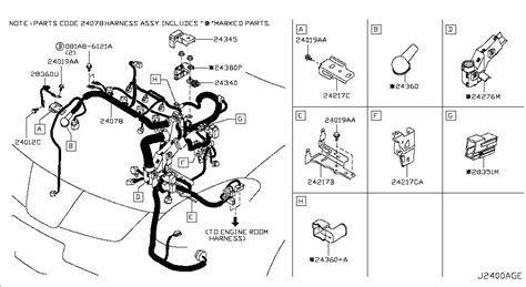nissan rogue engine wiring harness get free image about