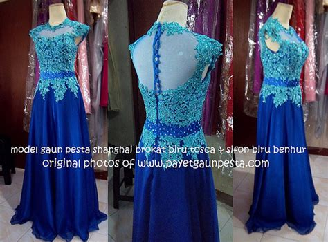 Dress Brukat Hitam Merah gaun pesta shanghai brokat biru tosca dan sifon biru benhur flickr photo