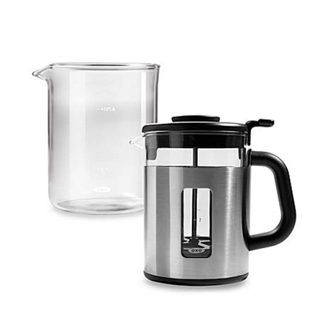 bed bath and beyond french press oxo good grips 174 4 cup french press coffee maker bed bath
